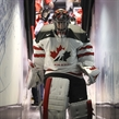 TORONTO, CANADA - DECEMBER 29: Canada's Carter Hart #31 exits the ice following warm up prior to a preliminary round game against Latvia at the 2017 IIHF World Junior  Championship. (Photo by Chris Tanouye/HHOF-IIHF Images)