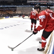 TORONTO, CANADA - JANUARY 2: Switzerland's Loic In Albon #16 warms up prior to their quarterfinal round game against Team USA at the 2017 IIHF World Junior Championship. (Photo by Matt Zambonin/HHOF-IIHF Images)
